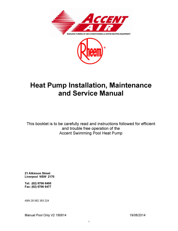 Product Manuals Rheem Thermal